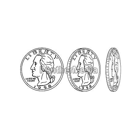 stati uniti moneta di filatura