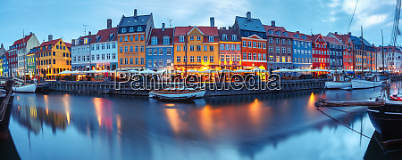 panorama, di, nyhavn, a, copenaghen, danimarca. - 25878744