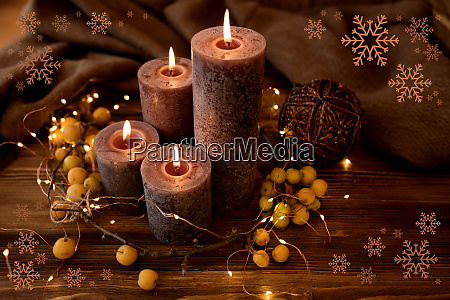 candele natalizie natura morta