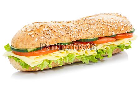 baguette sub sandwich grani integrali con
