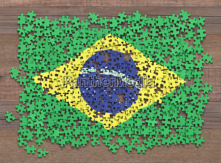 brasile flag puzzle