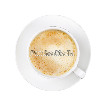 white cup of cappuccino coffee on