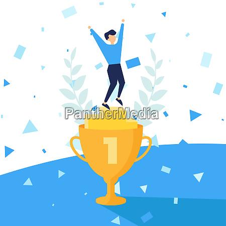 vincitore illustrazione vettoriale numero uno