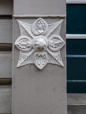 detail of carved stone ornament