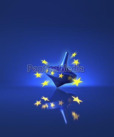 stars leaving european union spinning top