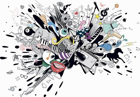 splatter di interessi musicali di intrattenimento