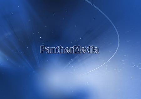 abstract image of blue sunbeams and