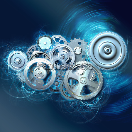 group of cogs turning together