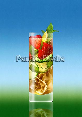 aperitivo estivo con frutta
