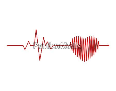 ritmo cardiaco electrocardiogram ecg segnale