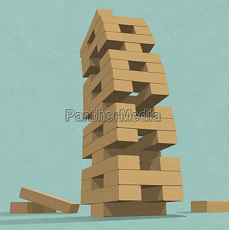 instabile building block rimozione gioco torre