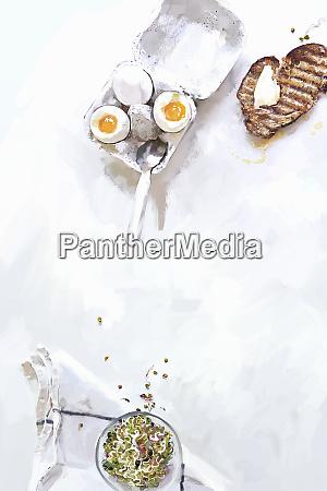 uova bollite morbide con toast al