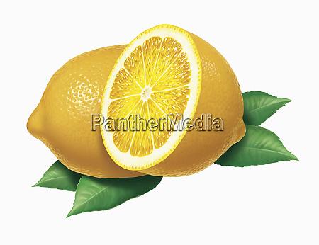 chiudere i limoni freschi