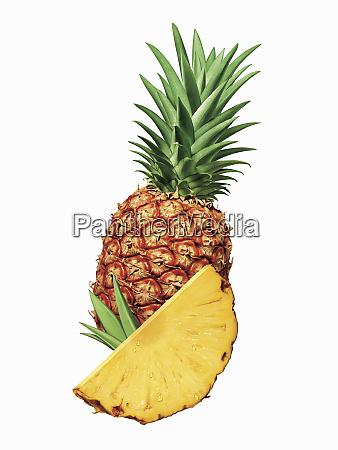 primo asse di ananas a fette