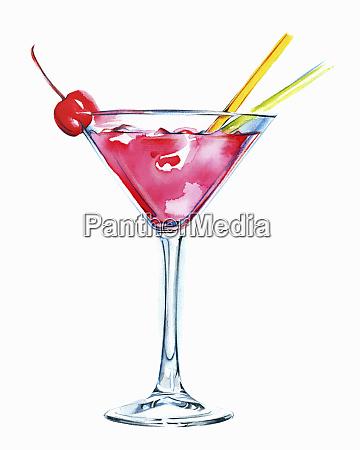 cocktail dentellare in vetro del martini