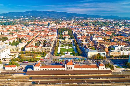 vista aerea sul centro storico di