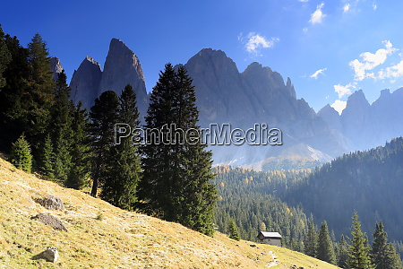 mountain landscape with high peaks