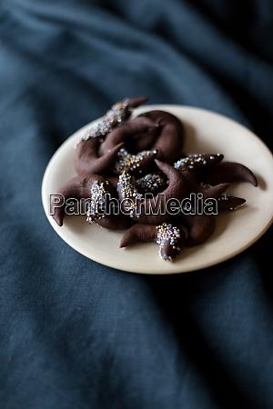 biscotti al cioccolato natale inverno tavolo