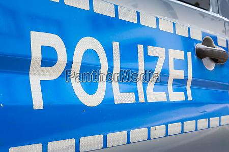 tedesco polizei auto etichetta badge polizia
