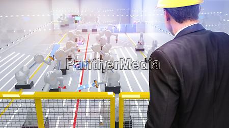 robot industriale di automazione intelligente in