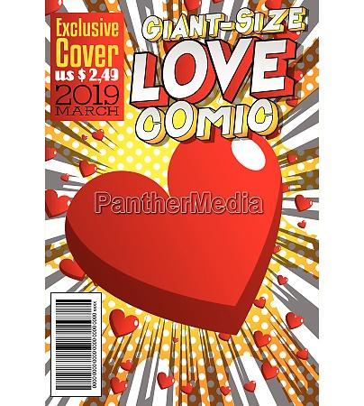copertina di fumetto amore gigante size