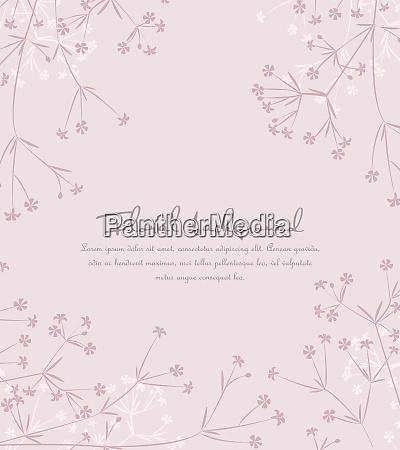 sfondo da sagome di fiori