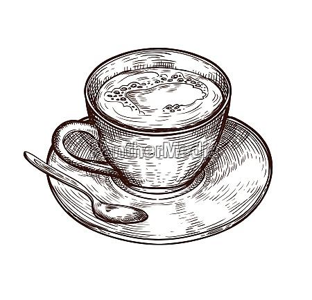coppa isolata su sfondo bianco tazza
