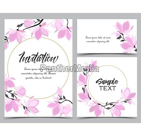 fiori di magnolia vettoriale
