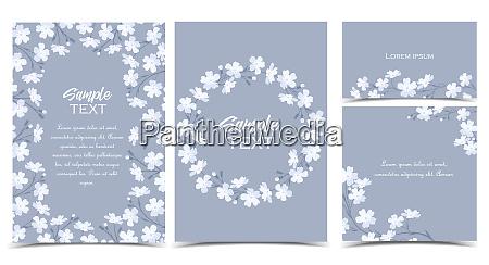 fiori bianchi vettoriali