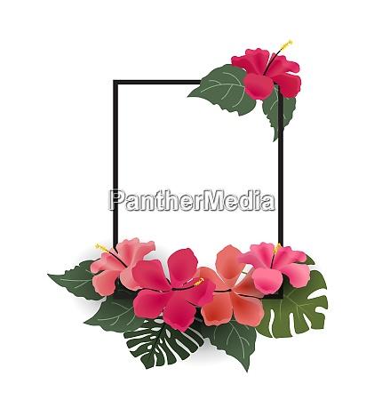 sfondo con fiori tropicali