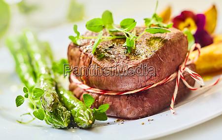 raro medaglione arrosto di bistecca di