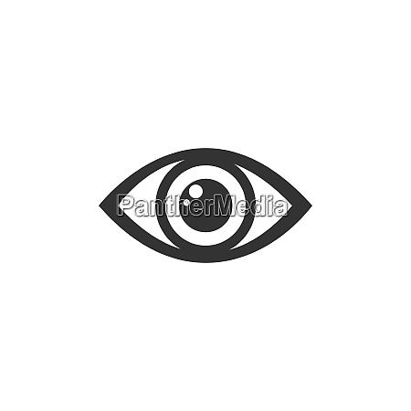 human eye icon on a white