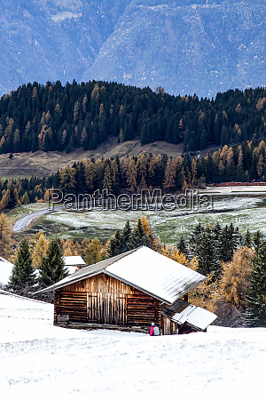 snowy early winter landscape in alpe