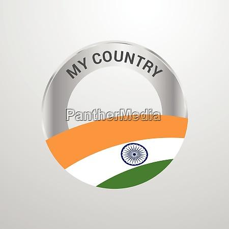india il mio paese bandiera badge