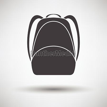 icona dello zaino della scuola icona