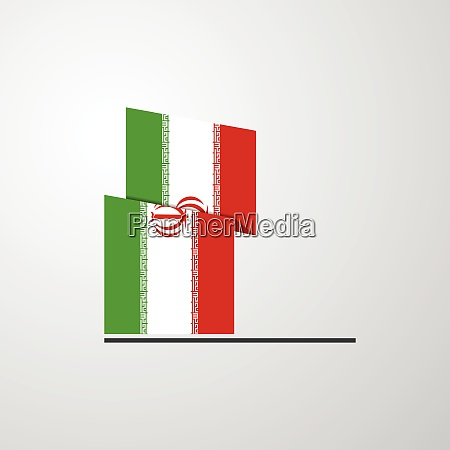 iran waving flag design vector