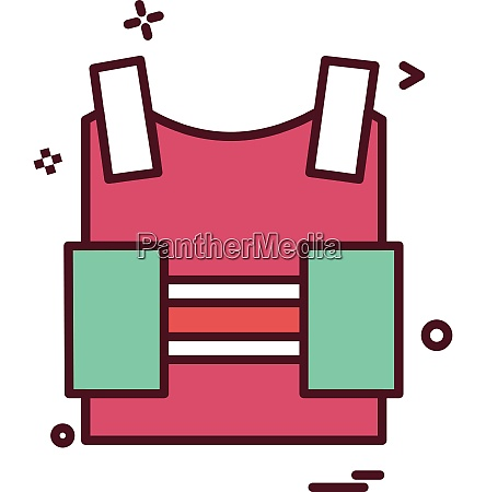 bulletproof vest protection revolution vest icon