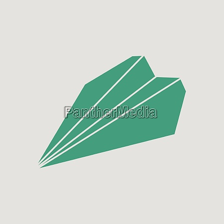 paper plane icon gray background with