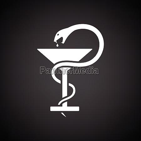 segno di medicina con serpente e
