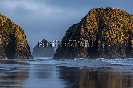 haystack rock and other sea stacks