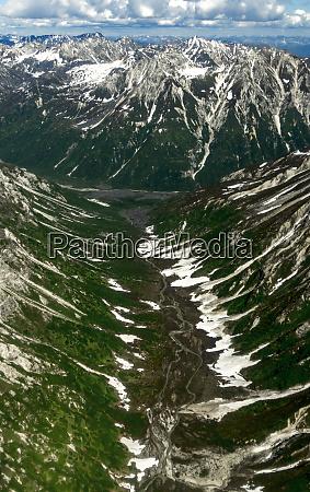 aerial view of alaska range over