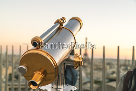 viewing telescope against clear sky at