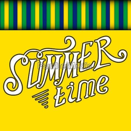 colored summer time vector background illustration