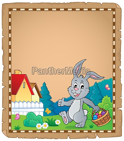 easter rabbit theme parchment 1