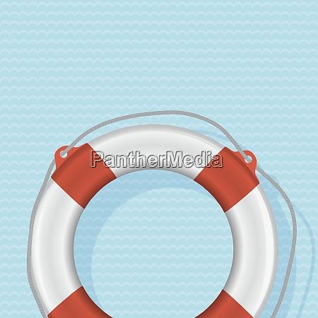 illustrazione vettoriale fotorealista lifebuoy su sfondo