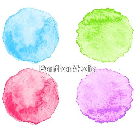 schizzi, di, acquerello, blu., illustrazione, vettoriale. - 26343368