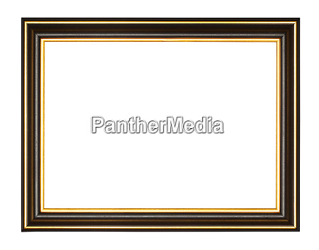 empty black and gold wooden picture