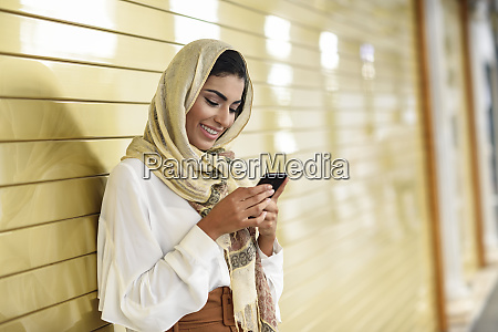 spain granada young arab tourist woman