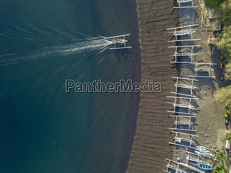 indonesia bali amed aerial view of