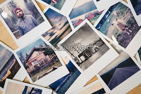 raccolta di foto istantanee di viaggio